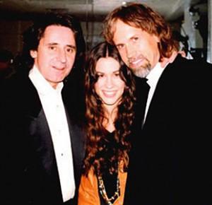 (l-r) John Alexander, Alanis Morissette & Glen Ballard.