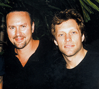 Desmond Child with Jon Bon Jovi.