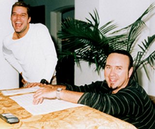 Desmond Child with Ricky Martin.