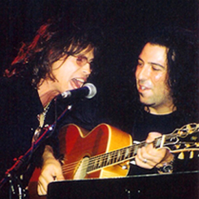 Billy Mann with Steven Tyler of Aerosmith.