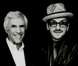 Burt Bacharach with Elvis Costello.