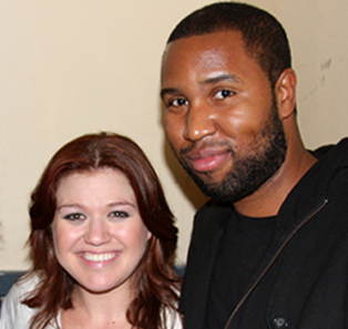 Claude Kelly with Kelly Clarkson