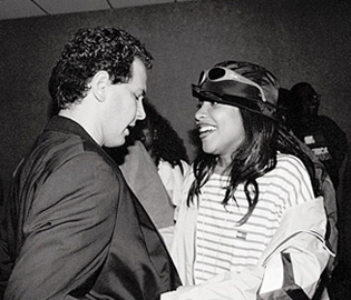 Craig Kallman with Aaliyah, in 1997