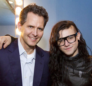 Craig Kallman and Skrillex.