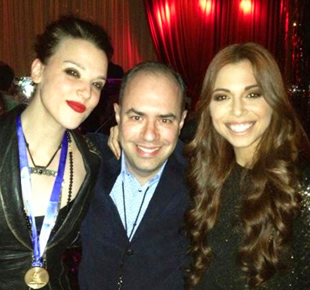 Lzzy Hale, Pete Ganbarg and Christina Perri