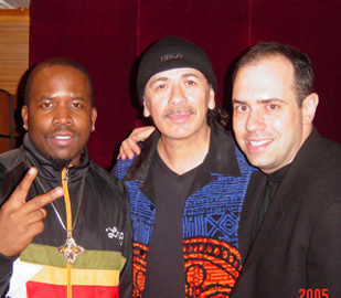 Big Boi, Carlos Santana and Pete Ganbarg