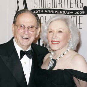 Hal David & his wife, Eunice, at a Songwriter's Hall of Fame event.