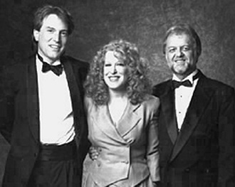 Jeff Silbar, Bette Midler and Larry Henley.