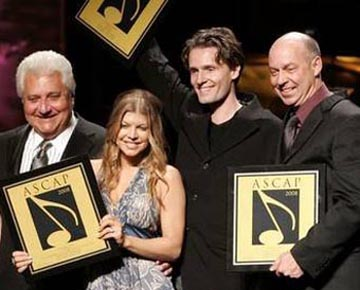 Martin Bandier, Fergie, Toby Gad, and Jim Vellutato.