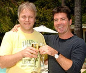 Jorgen Elofsson with Simon Cowell.