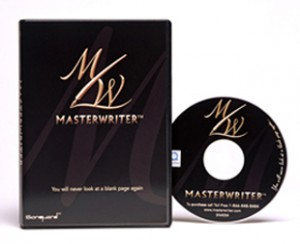 The cover artwork for MasterWriter software.