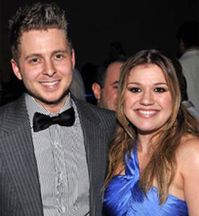 Ryan Tedder with Kelly Clarkson.