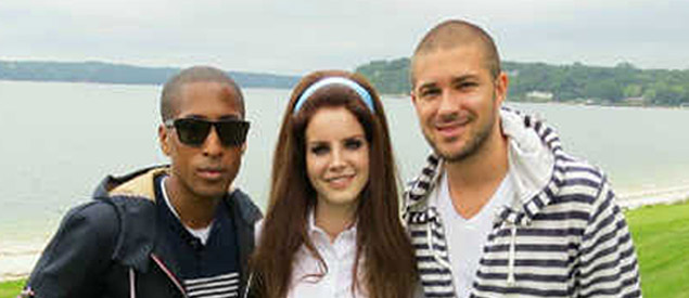 Pictured (l-r): Larry Jackson (former Interscope exec), Lana Del Rey, & John Ehmann (VP A&R, Interscope).