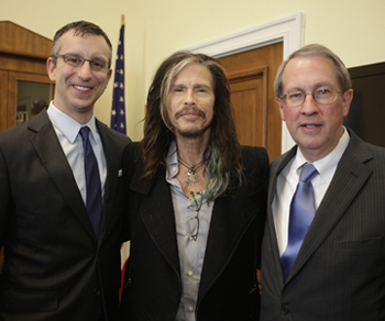 David Israelite, Steven Tyler and Congressman Robert Goodlatte.