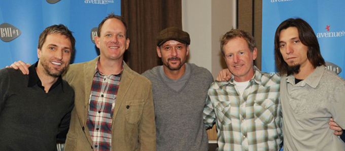 Brett Warren, Jim Beavers, Tim McGraw, Brett Beavers and Brad Warren.