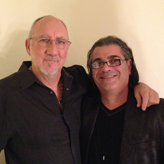 Evyen Klean with Pete Townshend of The Who.
