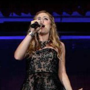Brooke Turner performing live.
