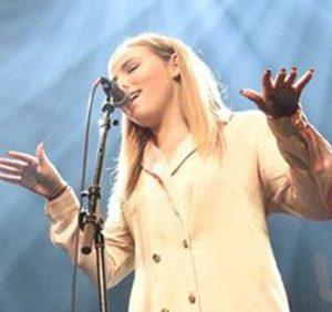 Julia McDonald performing live.