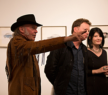 Neil Young and Randall Wixen