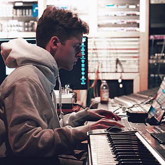 Nick Mira in the studio.