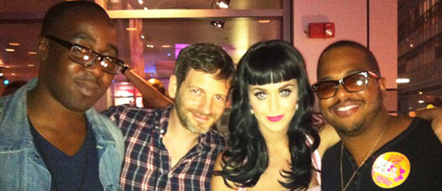 Pictured (l-r): Chris Anokute, Dr. Luke, Katy Perry and Tricky Stewart.