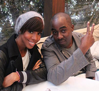 Chris Anokute with Kelly Rowland.