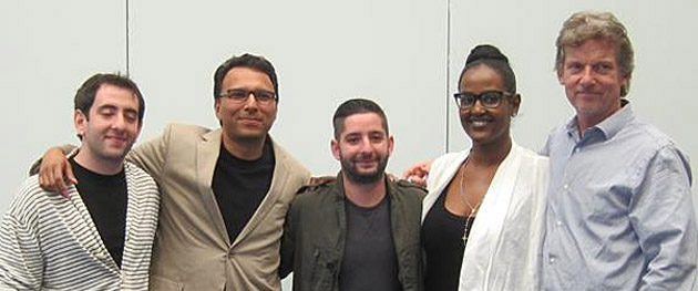 Pictured (l-r): Josh Levine (Ari Levine's manager), Monti Olson (Sr. VP of A&R, UMPG), Ari Levine (UMPG songwriter, part of the production & writing team The Smeezingtons), Ethiopia Habtemariam (Sr. VP of Creative Affairs, Head of Urban Music), and Tom Sturges.