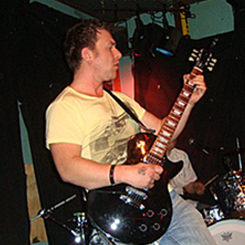 Ash St. John performing live.