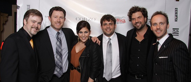 Ben Vaughn, Ben Hayslip, Hillary Scott of Lady Antebellum, Rhett Akins, Dallas Davidson, and Rusty Gaston of This Music.