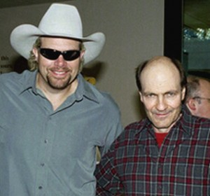 Bobby Braddock with Toby Keith.