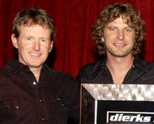 Brett Beavers with Dierks Bentley.