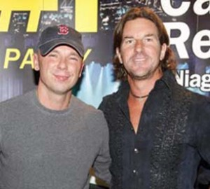 Kenny Chesney and Brett James.