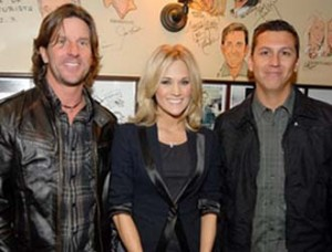 Brett James, Carrie Underwood and Mike Elizondo.