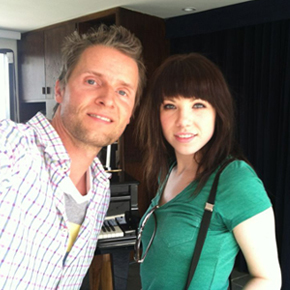 Toby Gad with Carly Rae Jepsen.