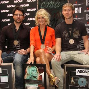 Chris DeStefano, Carrie Underwood and Ashley Gorley