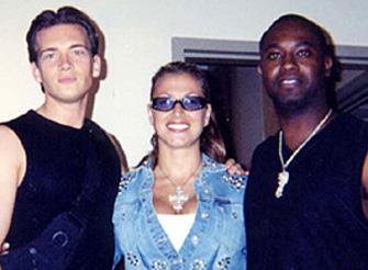 Greg Lawson with Anastacia and Damon Sharpe.