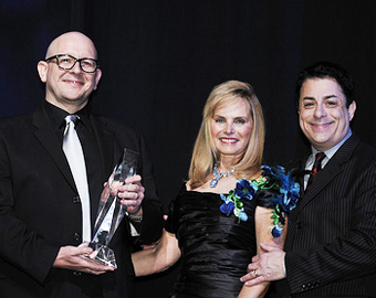 Iain Pirie, Rachelle Friedman (NARM Board Chairman) and Jim Donio (NARM President).