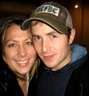 Jason Reeves with Colbie Caillat.