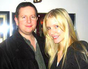 Kelly Harper with co-writer/producer, Rob Wells.