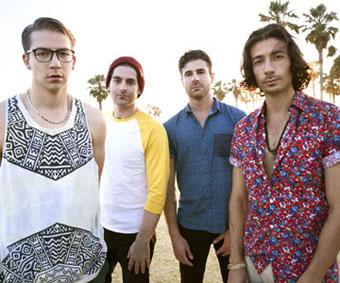 The band MAGIC!: Alex Tanas, Ben Spivak, Mark Pelli and Nasri Atweh.