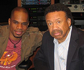 Maurice White with Kirk Franklin.