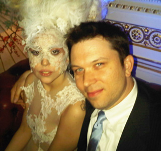 Martin Kierszenbaum with Lady Gaga.