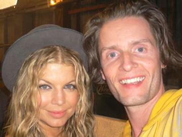 Toby Gad with Fergie.