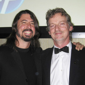 Dave Grohl of the Foo Fighters with Tom Sturges.