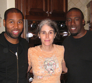 Claude Kelly and Danja with Teresa LaBarbera Whites.