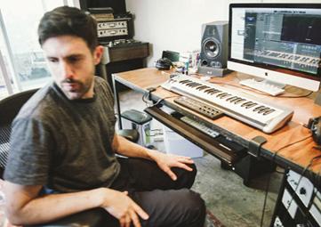 Jesse Shatkin at his recording studio.