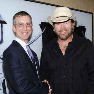 David Israelite with country star Toby Keith.
