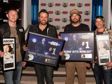 Ashley Gorley, Randy Houser, Dallas Davidson & Kelley Lovelace.