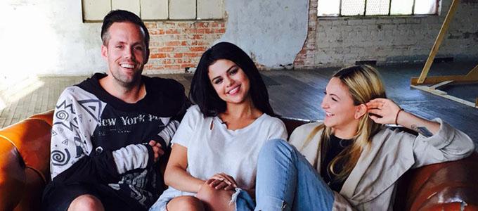Justin Tranter, Selena Gomez and Julia Michaels.