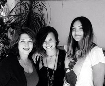 Lindy Robbins, Demi Lovato and Julia Michaels.